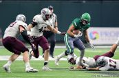 October 13, 2018: a NCAA FCS football game between the Montana Grizzlies and the University of North Dakota Fighting Hawks at the Alerus Center, Grand Forks, North Dakota. North Dakota defeated Montana 41-14. Russell Hons