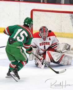 November 27, 2018 In the first game of the season long Gambucci Cup series, Grand Forks Red River hosted East Grand Forks at Purpur Arena in Grand Forks, ND. East Grand Forks won 4-0. Photo by Russell Hons More game photos at: https://bit.ly/2FMqLq1