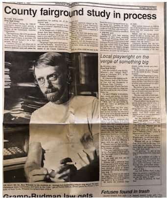 Aug. 1, 1987 Dickinson Press feature story about Ray.