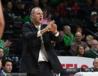 December 29, 2018: a NCAA basketball game between Purdue University Fort Wayne and the University of North Dakota Fighting Hawks at Betty Engelstad Sioux Center in Grand Forks, ND. Purdue Fort Wayne won 84-73. Photo by Russell Hons