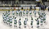 December 29, 2018 a exhibition men's college hockey game between the U.S. National Under-18 team and the University of North Dakota Fighting Hawks at Ralph Engelstad Arena in Grand Forks, ND. Photo by Russell Hons