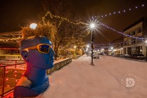 """""""Getting That Christmas Feeling"""": I went out last night (Dec. 23) since it was snowing and took a couple of images in downtown Grand Forks."""