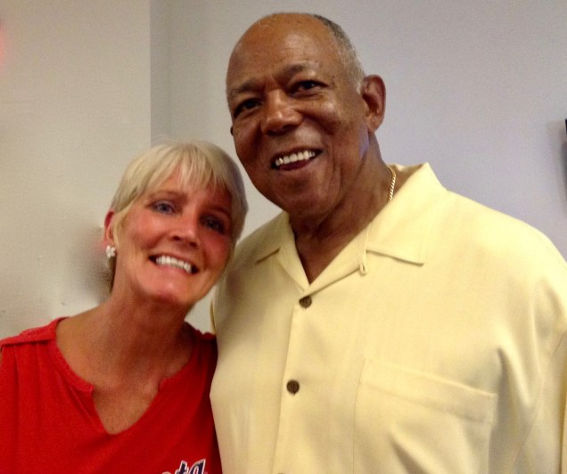 Tony Oliva has probably posed for a photo with everyone in the Upper Midwest. That includes my wife, Claudia Daniels.
