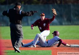 May 16, 2019 The Central Knights take on Fargo Davies in EDC baseball at Kraft Field in Grand Forks, ND. Central won 10-6. Photo by Russell Hons