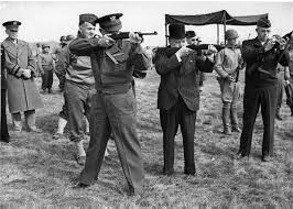Gen. Eisenhower and Prime Minister Winston Churchill, taken May 15, 1944, three weeks before D-Day.