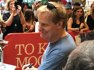 Jeff Daniels greeting fans after the play.