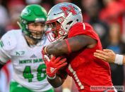 November 30, 2019: a NCAA FCS playoff football game between the University of North Dakota Fighting Hawks and the Nicholls State Colonels at John L. Guidry Stadium, Thibodaux, La. Nicholls State won 24-6. Photo by Russell Hons