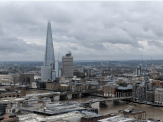 View from the top of St. Paul's Cathedral, 528 steps up a narrow tower on stone steps. The Shard is the pointed building. The next day my shins ached.
