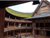 "Toured Shakespeare's Globe on the South Bank, and that night returned for a performance of ""As You Like It"". Nerd heaven."