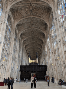 Glorious fan-vaulted ceiling, King's College Chapel.