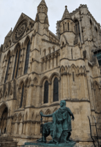York Minster, home to a Church of England Archbishop. Constantine the Great statue.