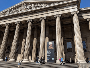The British Museum. I didn't get to see much as I was dealing with a British Airways strike that was destined to give me two bonus days in London but I came back later.
