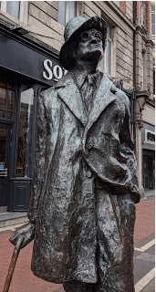 James Joyce, most famous of Dubliners.