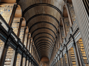 The Long Library, Trinity College, Dublin, home of The Book of Kells (the main reason I came here, even if ever so briefly).