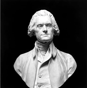Thomas Jefferson, by Houdon.