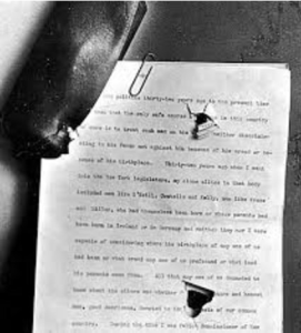 The 50-page speech in TR's coat that slowed the assassin's bullet.