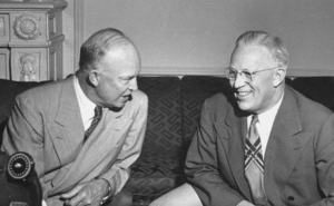 Earl Warren (right) and President Eisenhower before the betrayal.