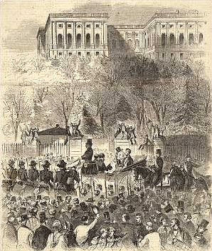 President Lincoln was inaugurated as the 16th president, but he had to sneak into the nation's capital 10 days earlier, on Feb. 23, 1861, to avoid an assassination plot.
