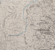 1955 Army Service Map Wyoming.