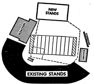Metropolitan Stadium, shared by the Minnesota Twins and Vikings, originally had no left field seating.The Vikings paid to have two decks built in left field for prime, football sideline seating.