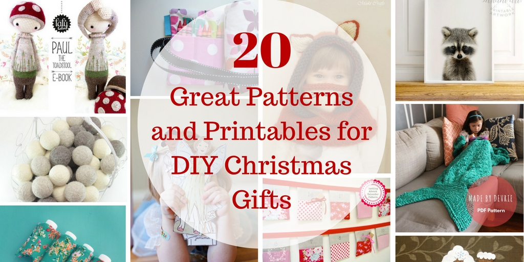 20 Great Patterns and Printables for DIY Christmas Gifts