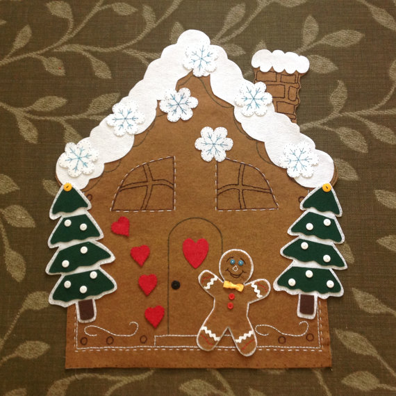 DIY Felt Gingerbread House Pattern