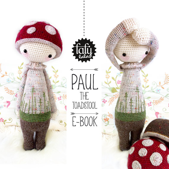 Crocheted Toadstool Doll Pattern