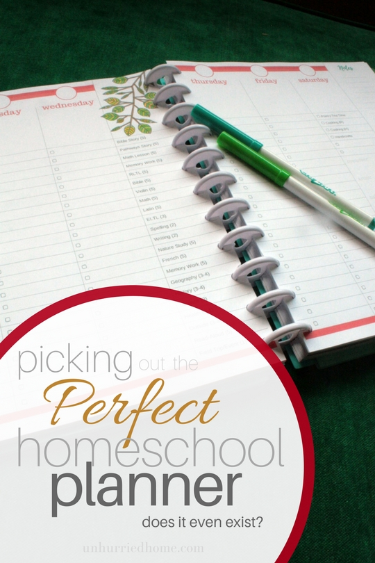 The Perfect Homeschooling Planner