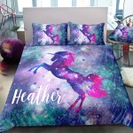 Personalized Galaxy Unicorn Bedding Size Twin Full Queen Unilovers