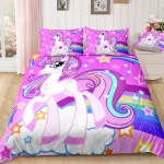 Pink Cloud Bedding Set Girly Twin Full Queen King Comforter Cover Set For Teen Unilovers