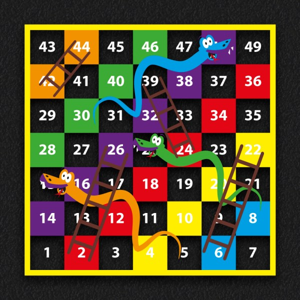 1 49 Snakes and Ladders BLOCK 2 - 1-49 Snakes & Ladders