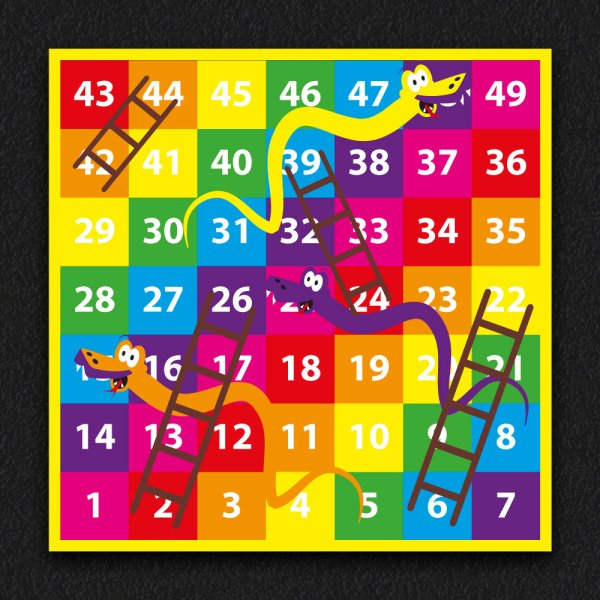 1 49 Snakes and Ladders SOLID 4 - 1-49 Snakes & Ladders