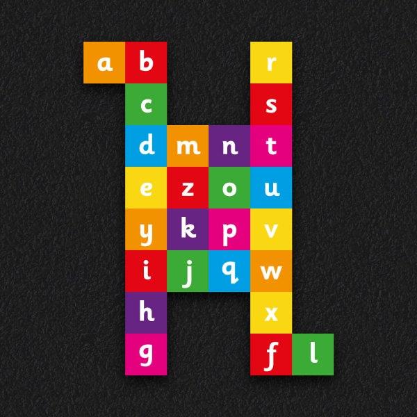 Alpha Grid Solid 2 - Alphabet Grid Solid