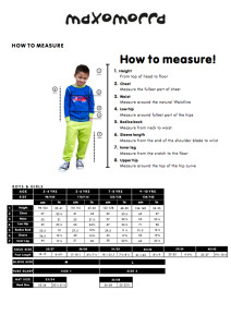 Maxomorra 2015 size chart children