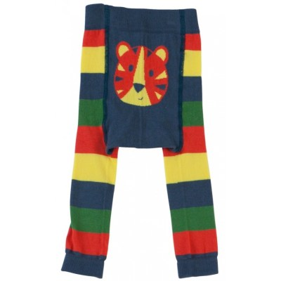 Piccalilly organic boys tights girls tiger rainbow stripes