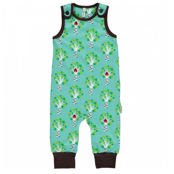 Maxomorra organic birch tree dungarees
