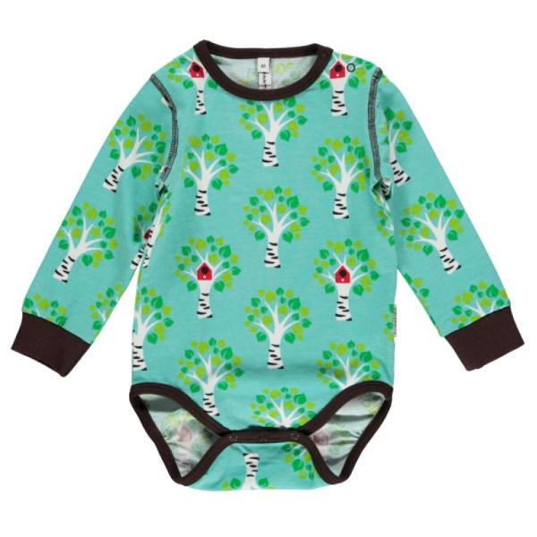 Organic cotton tree print baby vest