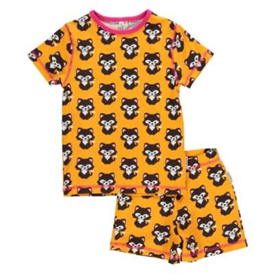 Maxomorra cat summer short pyjamas organic cotton SP17