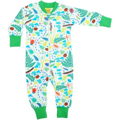 DUNS Sweden organic cotton sleepsuit in bugs