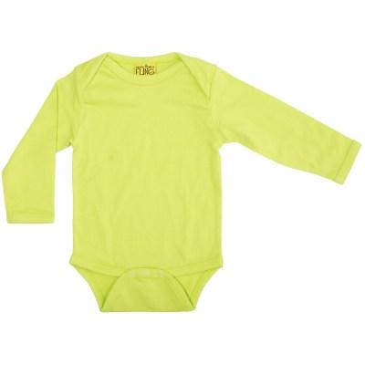MTAF lime green long sleeve bodysuit organic plain original_Untitled-87