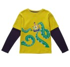 Sea Monster top by Piccalilly on organic cotton