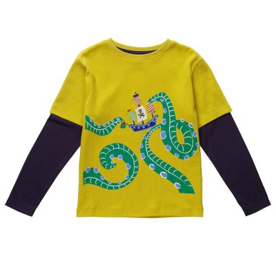 Piccalilly organic cotton Sea Monster top