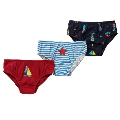 Piccalilly organic cotton boys underpants boats