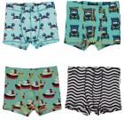 Maxomorra organic cotton boxers | Crabs | Black waves | Tractors | Boats