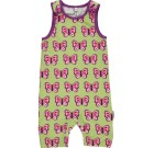 Butterfly short playsuit dungarees by Maxomorra in organic cotton