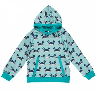 Maxomorra crab hoody organic cotton