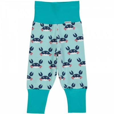 Maxomorra crabs baggy trousers organic cotton