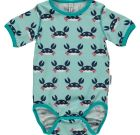 Crab print organic cotton short sleeve bodysuit – Maxomorra
