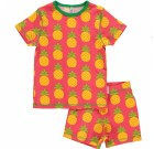 Maxomorra organic summer short sleeve pineapple pyjamas