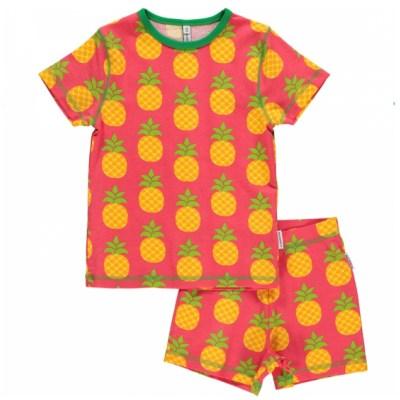 Maxomorra pineapple short pyjamas organic cotton